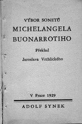 Michelangelo Buonarroti: Výbor sonetů Michelangela Buonarrotiho