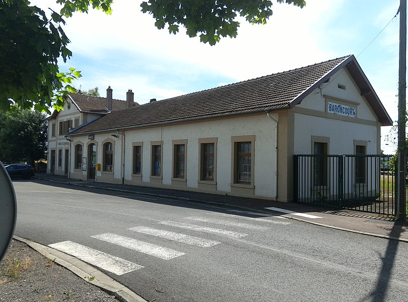 Baroncourt station, street side, France.