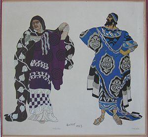Phèdre - Phèdre and Thésée (1923), Léon Bakst