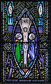 Ballinasloe St. Michael's Church North Aisle Fifth Window St. John and Our Lady by Harry Clarke Studios Detail Crucifixion 2010 09 15.jpg