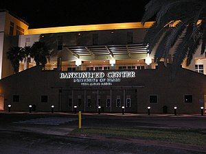 Miami Hurricanes men's basketball - The Watsco Center on the University of Miami campus is the home arena of the Hurricanes' men's and women's basketball teams.
