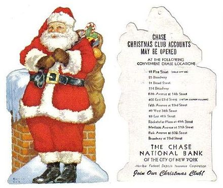 advertisement for a bank christmas club that doubled as a tree ornament ca 1950 - Christmas Club Accounts