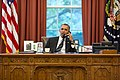 Barack Obama on the telephone with Hassan Rouhani.jpg