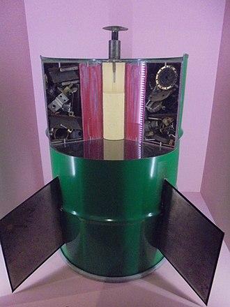 Barrel bomb - A replica of a barrel bomb in the Imperial War Museum London