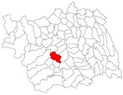Vị trí của Bârsanesti