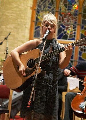 The Music Gallery - Musician Basia Bulat performing inside the Music Gallery at St George the Martyr in Toronto.