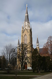 The Basilica of the Sacred Heart on Notre Dame's campus