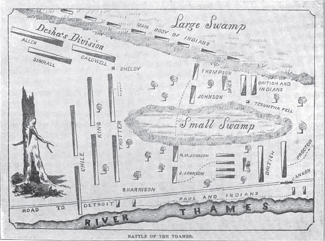 Diagram of the battle, courtesy of Bennett H Young