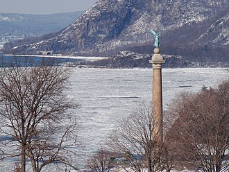 Trophy Point - Image: Battle Monument and Trophy Point seen from Jefferson Hall Feb 2009