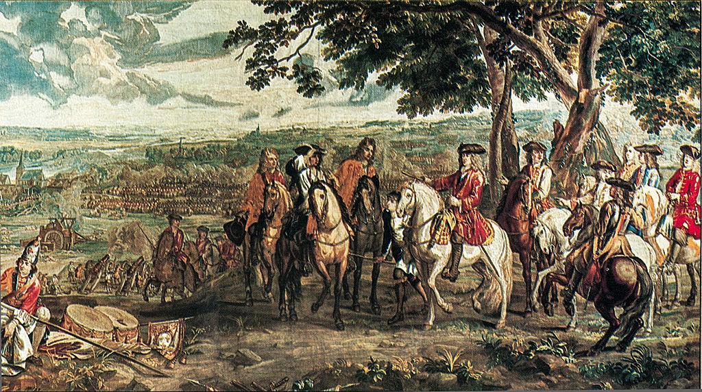 Kapitulacja Francuzów pod Blenheim / Źródło: Wikimedia Commons