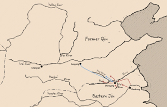 Battle of Fei River - The situation during Battle of Fei River