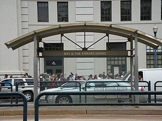 Bay and The Embarcadero station - Bay and The Embarcadero station, 2008