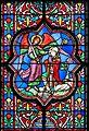Bayeux Cathédrale Notre-Dame Chapelle Saint-Michel et Saint-Blaise Baie 14 Trois scènes de la légende de saint Michel Détail Vision de saint Aubert 2016 08 22.jpg