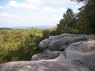 Forbes State Forest - View of the surrounding forest from the Beam Rocks overlook.
