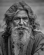 Bearded man with long hair-3052641