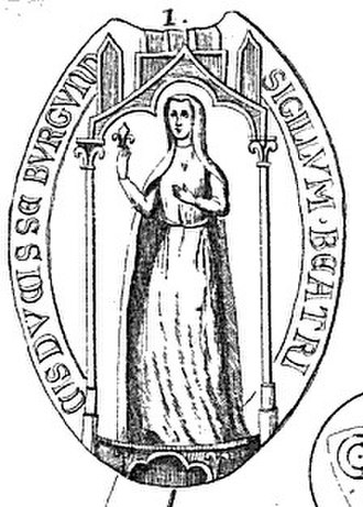 Beatrice of Navarre, Duchess of Burgundy - Seal of Beatrice