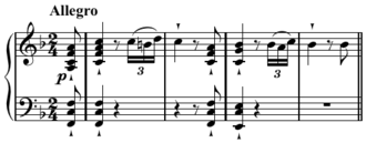 Repetition (music) - Image: Beethoven Sonata in F Major, op. 10 no. 2