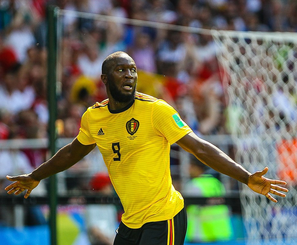 9ce69fa89 Lukaku celebrating for Belgium at the 2018 FIFA World Cup