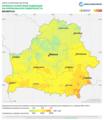 Belarus DNI Solar-resource-map lang-RU GlobalSolarAtlas World-Bank-Esmap-Solargis.png