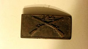 144th Infantry Regiment (United States) - Belt Buckle from the 144th. Likely used during World War 1. Buckle was discovered by a metal detectorist in Fort Worth, TX at the site of Camp Bowie