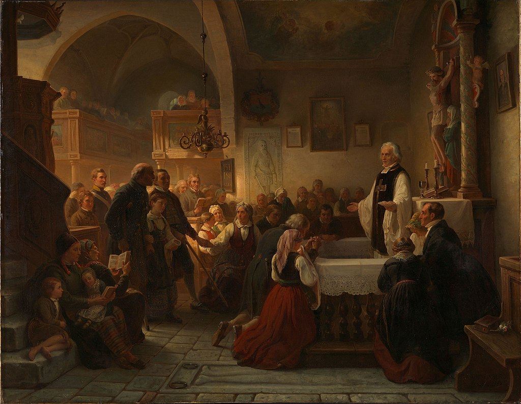 Bengt Nordenberg - Celebrating Communion in a Swedish Parish Church - NG.M.00216 - National Museum of Art, Architecture and Design.jpg