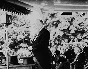 R. B. Bennett - Prime Minister Bennett addressing a public meeting