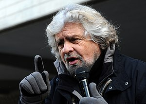 Italian general election, 2013 - Beppe Grillo in Trento, during the electoral campaign.