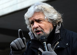Five Star Movement - Beppe Grillo in Trento, during the 2013 electoral campaign.