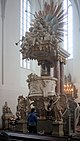 Berlin-Mitte, St.Mary´s church, the pulpit.JPG