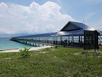 Besar Island, Johor - Besar Island jetty