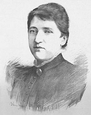 Betty Fibichová - Portrait of Betty Fibichová that was first published on 1 November 1884.