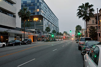Beverly Drive - Beverly Drive, looking North from Wilshire Boulevard, 2015