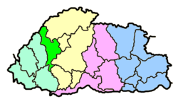 Thimphu district within Bhutan
