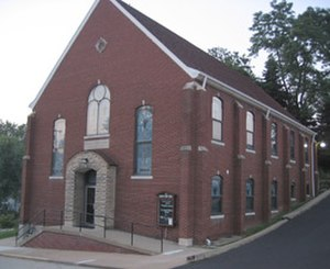 The Church of Jesus Christ (Bickertonite) - The Church of Jesus Christ's historic chapel in Monongahela, Pennsylvania.