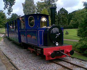 Bicton Woodland Railway - loco name: Sir Walter Raleigh