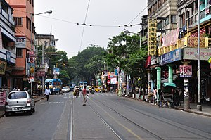 Bidhan Sarani - Image: Bidhan Sarani Kolkata 2011 10 22 6271