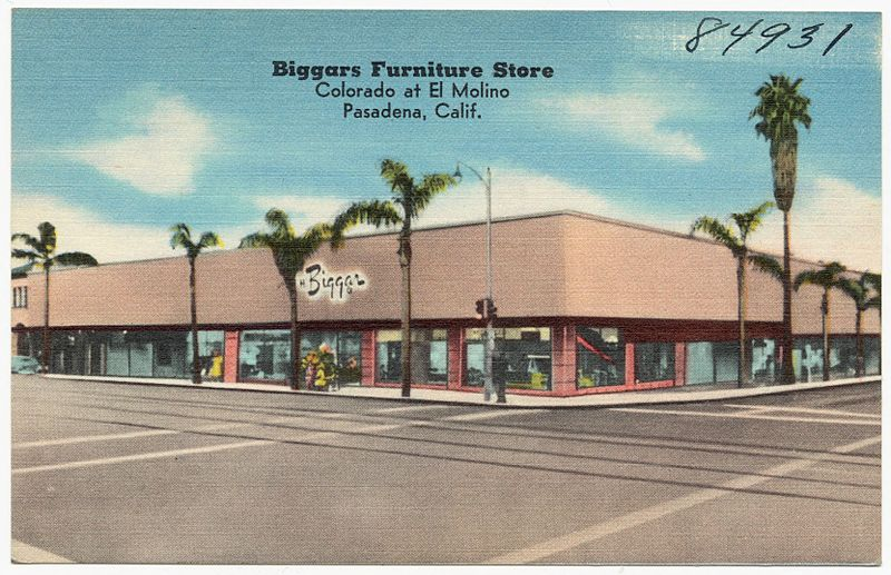 File Biggars Furniture Store Colorado At El Molino Pasadena Calif 84931 Jpg Wikimedia Commons