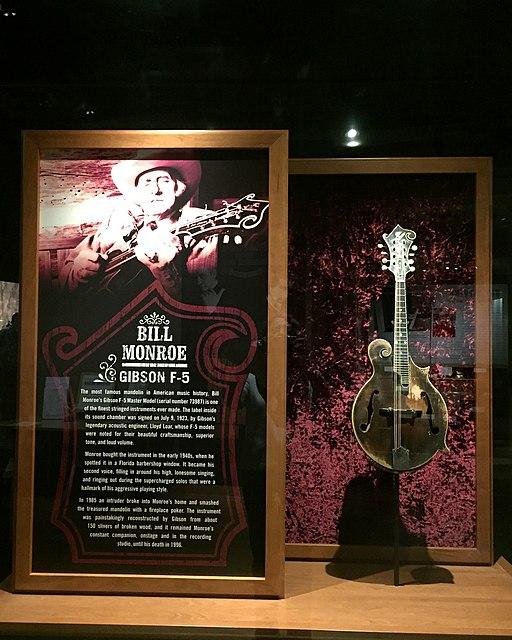 Bill Monroe's Mandolin Gibson F-5