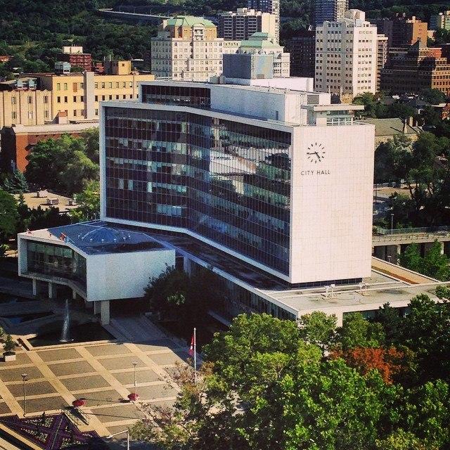 Birds-Eye View of Hamilton City Hall