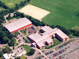 Parrs Wood - Aerial view of Parrs Wood High School