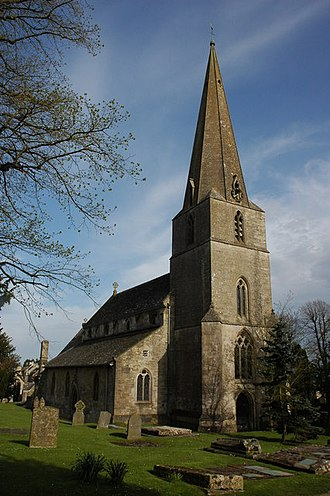 Bisley, Gloucestershire - The church of All Saints; it was mostly rebuilt in the early 1860s, however, it may have originally been an Anglo-Saxon minister