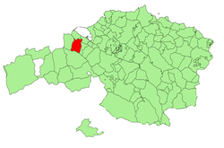 Location of Abanto-Zierbena in Biscay.