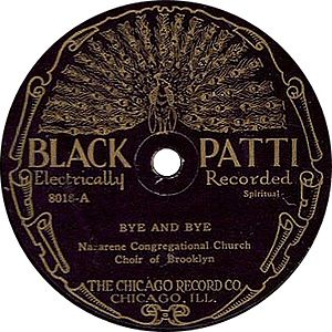 J. Mayo Williams - A Black Patti label