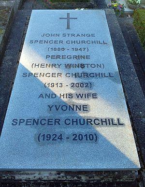 John Strange Spencer-Churchill - John Strange Spencer-Churchill's grave at St Martin's Church, Bladon.