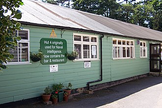 Bletchley Park - Hut 4, adjacent to the mansion, is now a bar and restaurant for the museum.