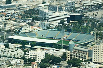 2015–16 Israeli Premier League - Image: Bloomfield Stadium aerial view august 2013