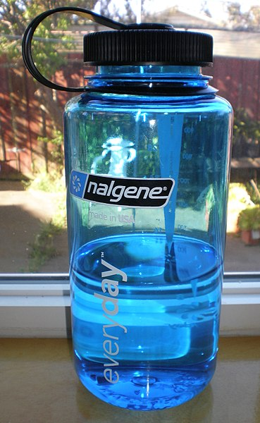 File:Blue 1000 ml Nalgene everyday wide mouth bottle 2.JPG