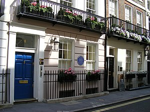 St James's Place - No. 4 St James's Place, from where Frédéric Chopin left for the Guildhall on 16 November 1848 for his last public performance.
