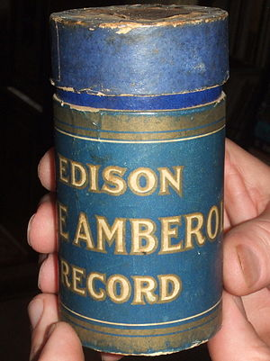 Blue Amberol Records - Front of early style Blue Amberol box