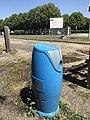Blue fire hydrant - Reyrieux, Ain, France - 4.JPG